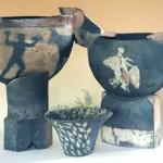 raku work by Louise Michaels
